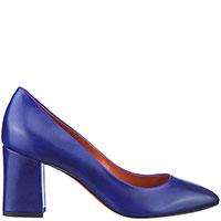 Синие туфли Santoni с острым носком, фото
