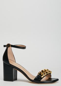 Черные босоножки Stuart Weitzman с квадратным носком, фото