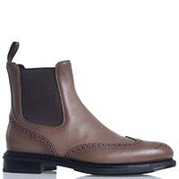 Ботинки-челси Santoni коричневого цвета, фото