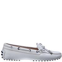 Белые мокасины Tod's со шнуровкой, фото