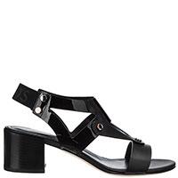 Черные босоножки Tod's на среднем каблуке, фото