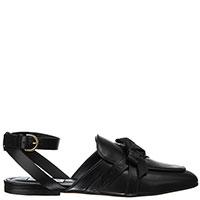 Черные сандалии Tod's с декором-бантом, фото