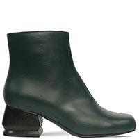 Ботильоны Marni темно-зеленые с круглым носком, фото