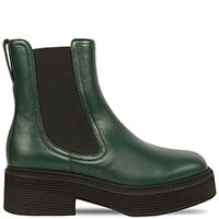 Высокие ботинки-челси Marni зеленого цвета, фото