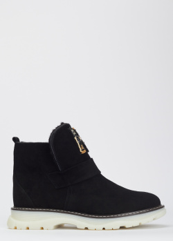 Замшевые ботинки Helena Soretti на меху, фото