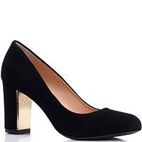 Замшевые туфли Roberto Serpentini черного цвета с закругленным носочком, фото