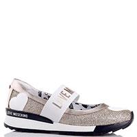 Спортивные туфли Love Moschino золотистого цвета, фото