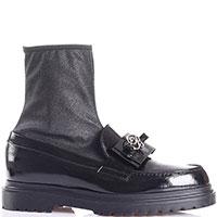 Лаковые ботинки Blumarine с блестящим голенищем, фото