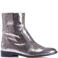 Ботинки Emporio Armani серебристого цвета на молнии, фото