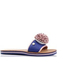 Шлепанцы Love Moschino синие с розовым, фото