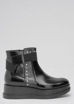 Ботинки черного цвета Tosca Blu на толстой подошве, фото