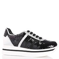 Черные кроссовки Tosca Blu с пайетками, фото