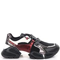 Женские кроссовки Tosca Blu с красными вставками, фото