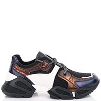 Женские кроссовки Tosca Blu с коричневыми вставками, фото