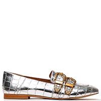 Туфли-лоферы Twin-Set с крокодиловым принтом, фото
