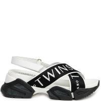 Женские сандалии Twin-Set черно-белого цвета, фото