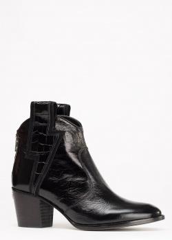 Ботинки-казаки Zadig & Voltaire Molly Flash Vintage Patent из лаковой кожи, фото