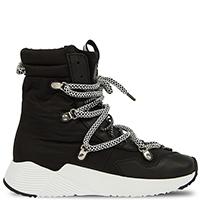 Высокие кроссовки Greymer с черно-белыми шнурками, фото