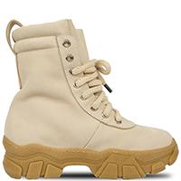 Бежевые ботинки Greymer на шнуровке, фото