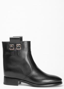 Черные ботинки Santoni с широкими петлями по бокам, фото