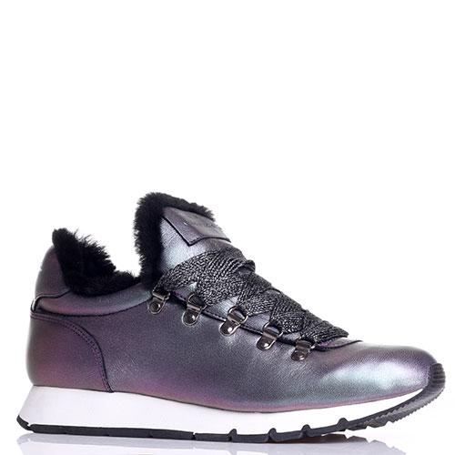 Перламутровые кроссовки  Voile Blanche на меху, фото