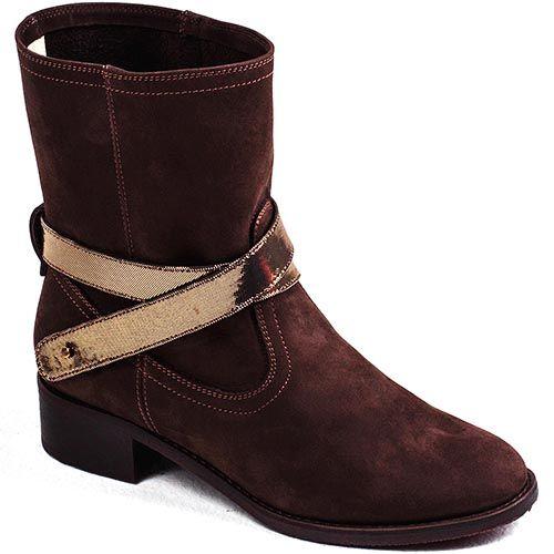 Женские ботинки Modus Vivendi замшевые темно-коричневого цвета, фото