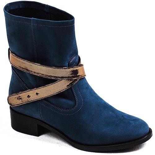 Женские ботинки Modus Vivendi замшевые темно-синего цвета, фото
