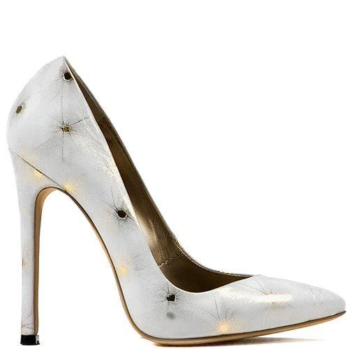 Туфли Modus Vivendi из белой кожи с золотистыми искрами, фото
