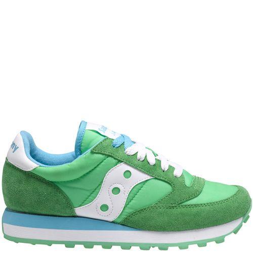 Женские кроссовки Saucony Jazz Original светло-зеленые с голубым и белым, фото