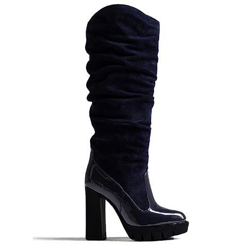 Сапоги женские Modus Vivendi черного цвета на каблуке, фото