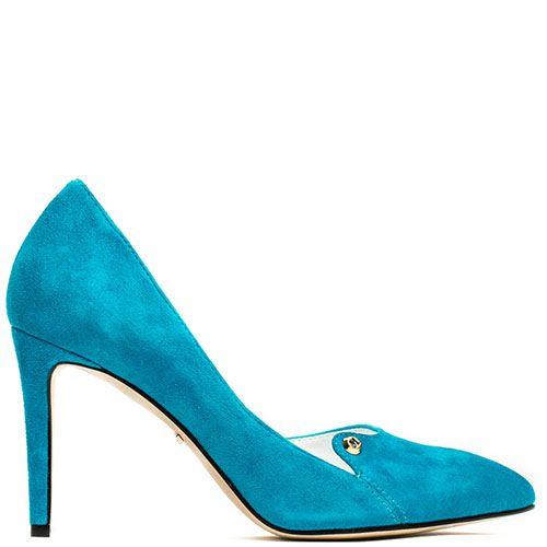 Туфли-лодочки Modus Vivendi из замши ярко-голубого цвета, фото