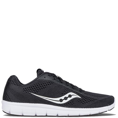 Беговые кроссовки Saucony GRID IDEAL 2016'WA черные на белой подошве, фото