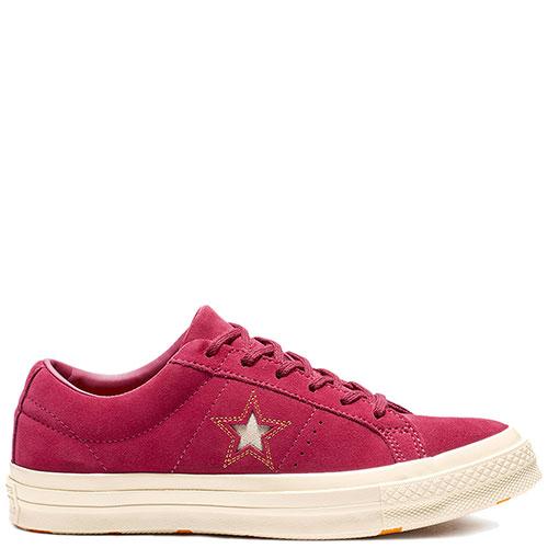 Кеды замшевые Converse One Star Ox красные, фото