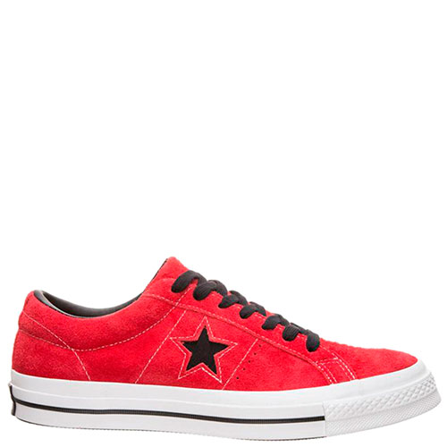 Кеды Converse One Star Dark Star Vintage Suede Low Top красные, фото