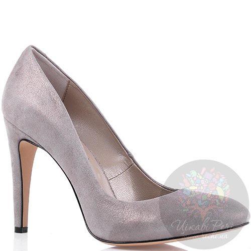 Замшевые туфли Modus Vivendi пепельно-розового цвета на высоком каблуке, фото