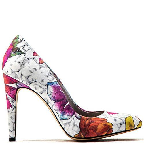 Туфли лодочки Modus Vivendi с цветочным принтом, фото