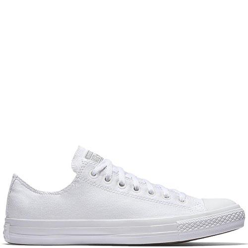 Классические низкие кеды Converse Chuck Taylor All Star Monochrome белого  цвета, фото 4f6355d2e09