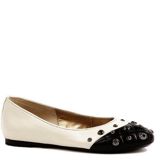 Черно-белые туфли Modus Vivendi с люверсами на стеганном носке, фото