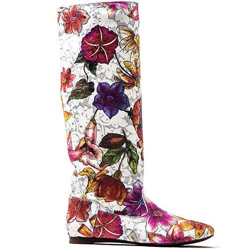 Перфорированные сапоги Modus Vivendi с разноцветным цветочным принтом, фото