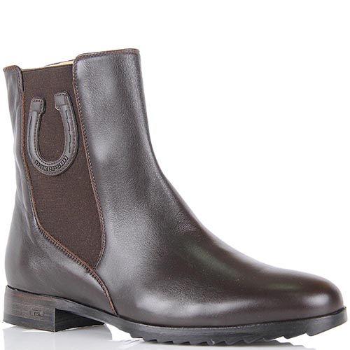 Женские ботинки Pakerson из натуральной кожи темно-коричневого цвета, фото