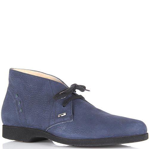 Женские ботинки-дезерты Pakerson из нубука синего цвета, фото