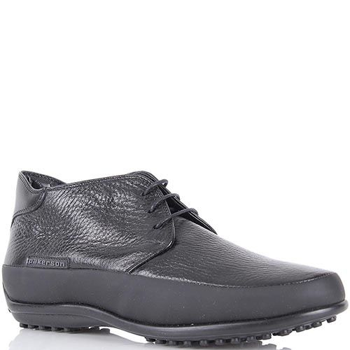Женские туфли Pakerson в спортивном стиле из кожи черного цвета, фото