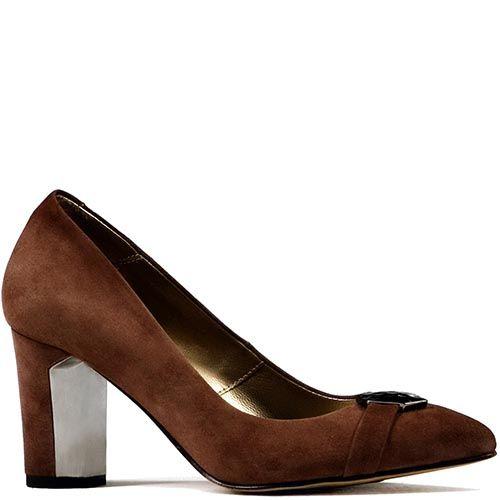 Туфли Modus Vivendi на среднем каблуке коричневого цвета, фото