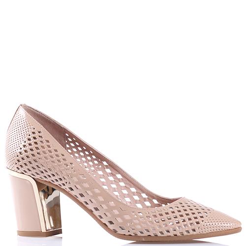 9ac510976f60 ☆ Бежевые туфли Baldinini с декоративной перфорацией 3244110 купить ...