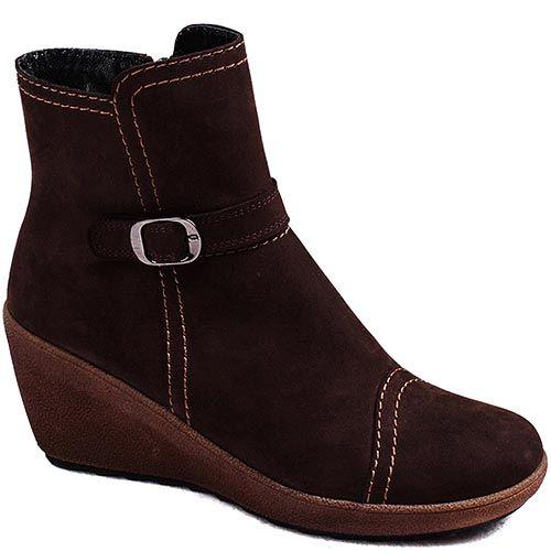 Замшевые демисезонные ботинки Modus Vivendi из натуральной замши коричневого цвета, фото