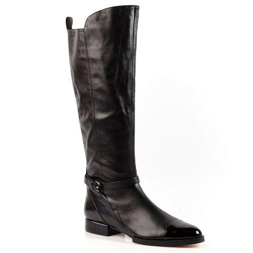 Женские кожаные сапоги демисезонные Basconi черные, фото