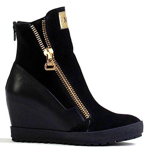 Женские ботинки Modus Vivendi черного цвета с молнией, фото