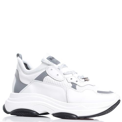 Белые кроссовки Baldinini на рельефной подошве, фото