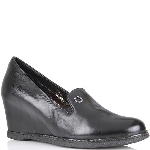 Туфли Pakerson из кожи черного цвета на термоутеплителе, фото