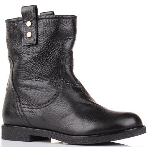 Зимние ботинки Renzi из кожи черного цвета, фото